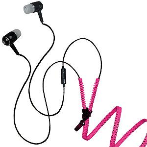 Zipper Stereo Y-Buds Headset - Hot Pink