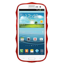 Load image into Gallery viewer, AMZER Hexagon High Gloss TPU Soft Gel Skin Case - Red for Samsung GALAXY S III GT-I9300