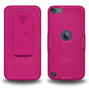 AMZER Shellster Hard Case  Belt Clip Holster for iPod Touch 5th Gen - Hot Pink