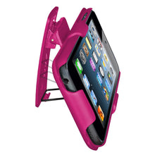Load image into Gallery viewer, AMZER Shellster Hard Case  Belt Clip Holster for iPod Touch 5th Gen - Hot Pink
