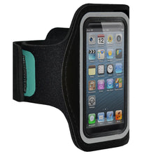 Load image into Gallery viewer, AMZER Water/Sweat Resistant Sports Armband with Key Holder for iPhone 5