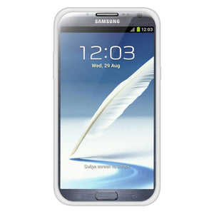 AMZER Soft Gel TPU Gloss Skin Case - Translucent White for Samsung Galaxy Note II GT-N7100