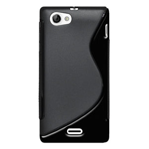 AMZER TPU Hybrid Case - Black for Sony Xperia J ST26i
