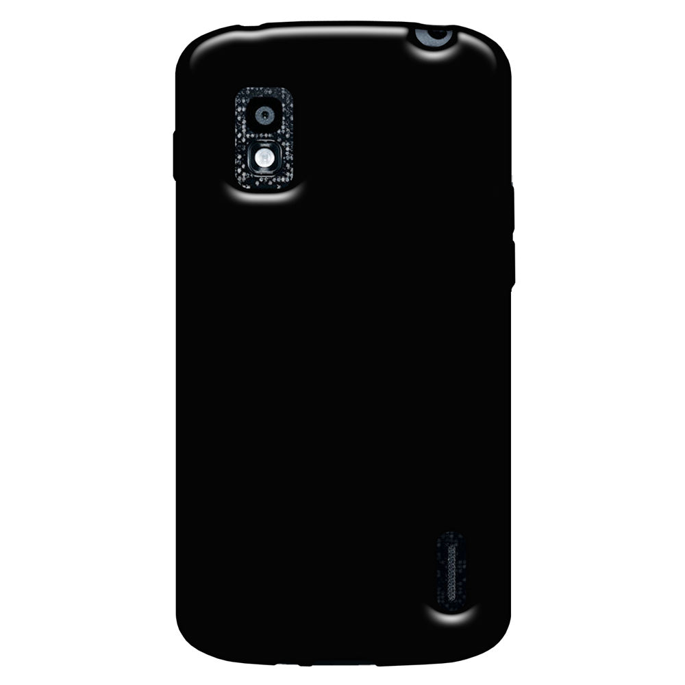 Amzer Soft Gel TPU Gloss Skin Case - Black for LG Nexus 4 E960, Google Nexus 4 E960