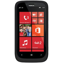 Load image into Gallery viewer, AMZER® Silicone Skin Jelly Case - Black for Nokia Lumia 822