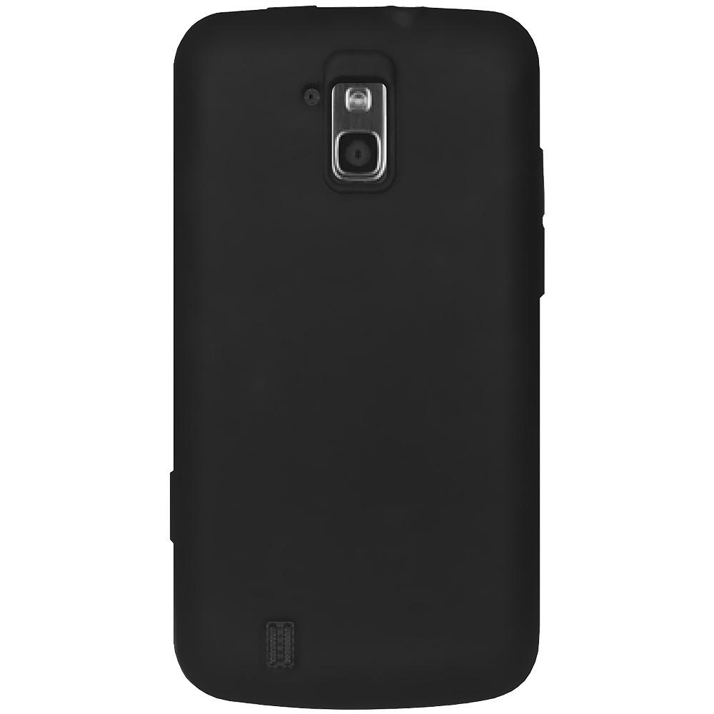 AMZER® Silicone Skin Jelly Case - Black for ZTE Force N9100