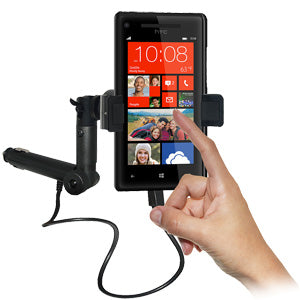 Amzer Lighter Socket Phone Mount with Charging & Case System for HTC Windows Phone 8X