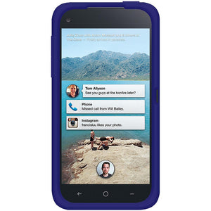 AMZER® Silicone Skin Jelly Case - Blue for HTC First
