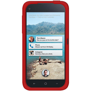 AMZER® Silicone Skin Jelly Case – Red for HTC First