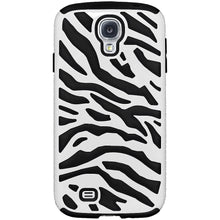 Load image into Gallery viewer, AMZER Zebra Hybrid Case - White PC + Black Silicone for Samsung GALAXY S4 GT-I9500