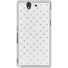 Load image into Gallery viewer, AMZER Diamond Lattice Snap On Shell Case - White for Sony Xperia Z C6602