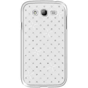 AMZER Diamond Lattice Snap On Shell Case - White for Samsung GALAXY Grand Duos GT-I9082