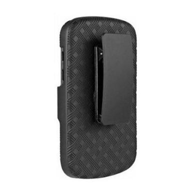 AMZER Shellster Hard Case with Belt Clip Holster for BlackBerry Q10 - Black