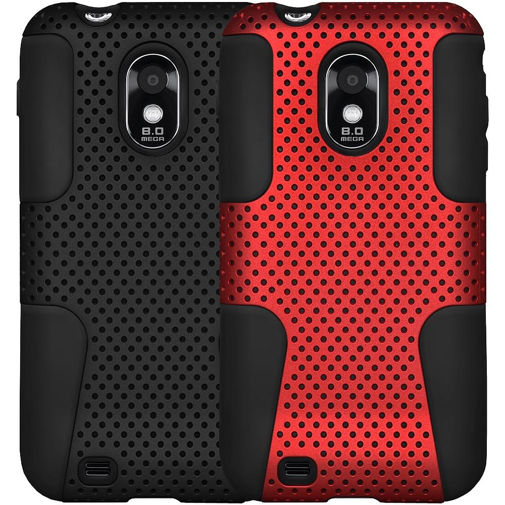 AMZER® Silicone-Perforated PolyCarbonate Hybrid Case - Set of 2 for Samsung Epic 4G Touch SPH-D710