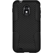 Load image into Gallery viewer, AMZER® Silicone-Perforated PolyCarbonate Hybrid Case - Set of 2 for Samsung Epic 4G Touch SPH-D710