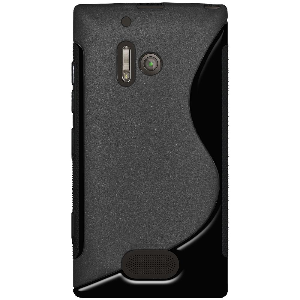 AMZER TPU Hybrid Case - Black for Nokia Lumia 928