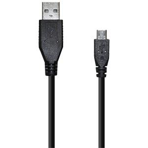 Amzer Universal Micro USB to USB 2.0 Data Sync and Charge Cable 1.5ft. - Black