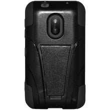 Load image into Gallery viewer, Amzer Double Layer Hybrid Case with Kickstand - Black/ Black for Nokia Lumia 620