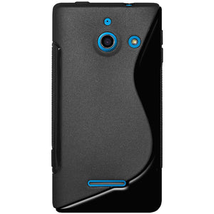 AMZER TPU Hybrid Case - Black for Huawei Ascend W1