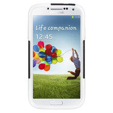 Load image into Gallery viewer, AMZER Double Layer Hybrid Case with Kickstand - Black/ White for Samsung GALAXY S4 GT-I9500