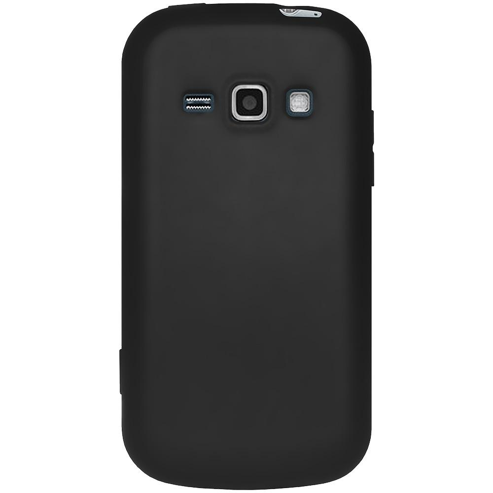 AMZER® Silicone Skin Jelly Case - Black for Samsung Galaxy Prevail II SPH-M840