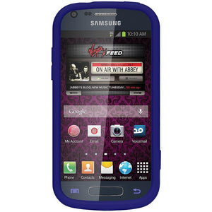 AMZER® Silicone Skin Jelly Case - Blue for Samsung Galaxy Prevail II SPH-M840