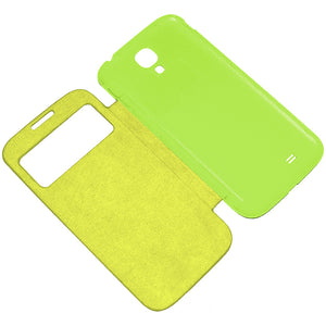 Amzer Flip Case with Swipe Window - Green for Samsung Galaxy S4 GT-I9505, Samsung GALAXY S4 GT-I9500