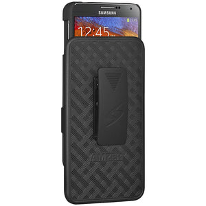 AMZER Shellster Hard Case  Belt Clip Holster for Samsung GALAXY Note 3 - Black