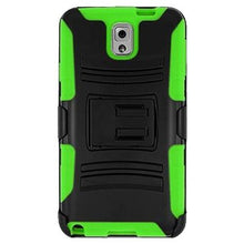 Load image into Gallery viewer, Premium Hybrid Double Layer Armor Case with Holster - Black/ Neon Green for Samsung GALAXY Note 3 SM-N900