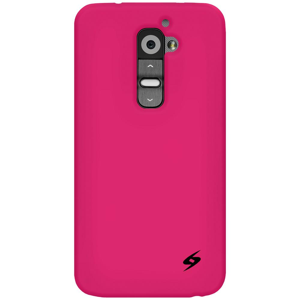 AMZER Silicone Skin Jelly Case for LG G2 D802 - Hot Pink
