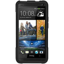 Load image into Gallery viewer, AMZER Double Layer Hybrid Case with Kickstand - Black/ Black for HTC One M7