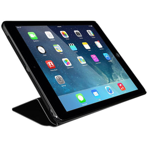 AMZER Shell Portfolio Case - Black Leather Texture for iPad Air