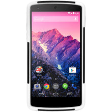 Load image into Gallery viewer, Amzer Double Layer Hybrid Case with Kickstand - Black/ White for LG Nexus 5 D820, Google Nexus 5 D820