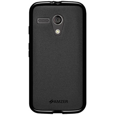 AMZER Pudding TPU Case - Black for Motorola Moto G XT1032