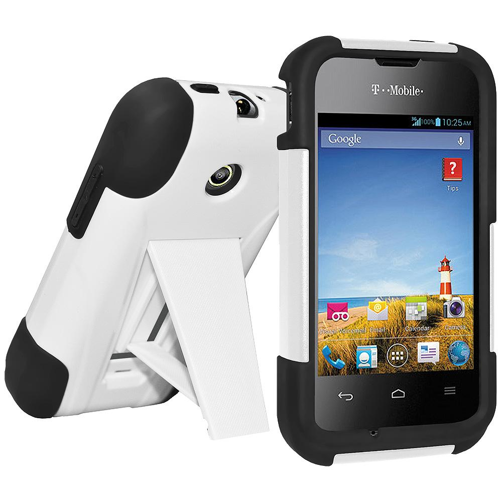 AMZER® Double Layer Hybrid Case with Kickstand - Black/ White for Huawei Glory H868C