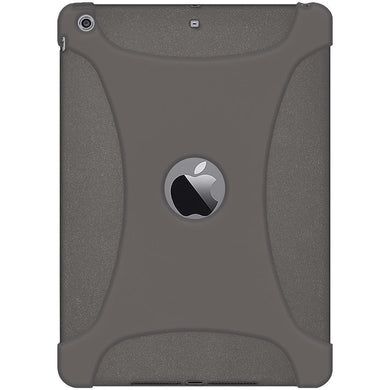 AMZER Shockproof Rugged Silicone Skin Jelly Case for iPad Air - Grey