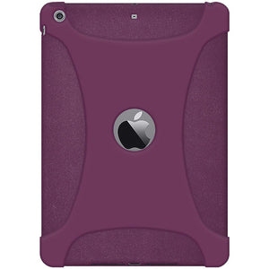 AMZER Shockproof Rugged Silicone Skin Jelly Case iPad Air 1st Gen 2014 Purple