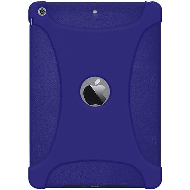 AMZER Shockproof Rugged Silicone Skin Jelly Case for iPad Air 1st Gen 2014 Blue