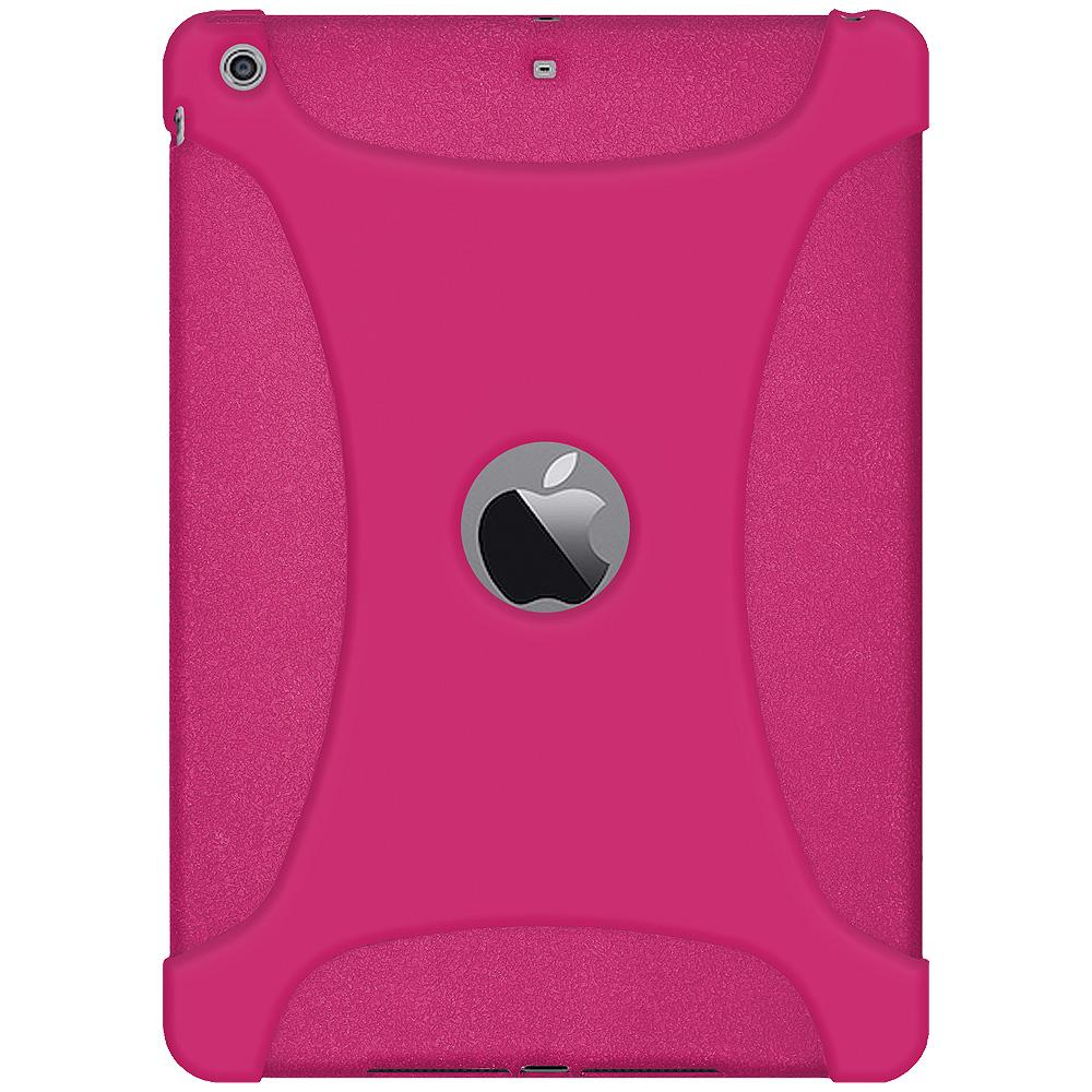 AMZER Shockproof Rugged Silicone Skin Jelly Case for iPad Air - Hot Pink