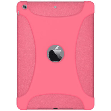 AMZER Shockproof Rugged Silicone Skin Jelly Case for iPad Air - Baby Pink