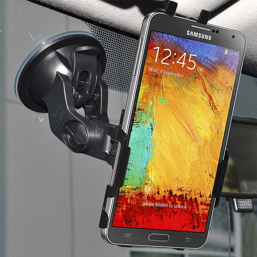 AMZER Suction Cup Mount for Windshield, Dash or Console for Samsung GALAXY Note 3