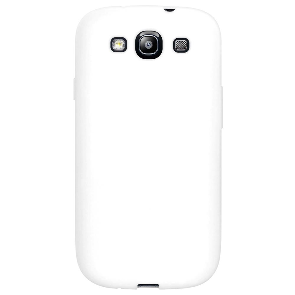 AMZER Silicone Skin Jelly Case for Samsung GALAXY S III GT-I9300 - Solid White