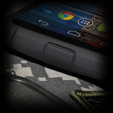 Load image into Gallery viewer, AMZER Hybrid Kickstand Case - Black/ Black for Motorola Moto X XT1055