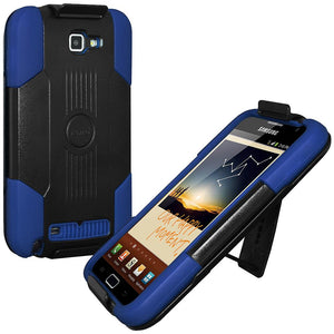 Premium Hybrid Case & Holster with Stand - Black & Blue for Samsung Galaxy Note
