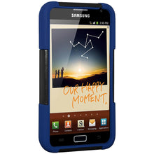 Load image into Gallery viewer, Premium Hybrid Case & Holster with Stand - Black & Blue for Samsung Galaxy Note