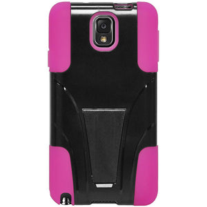 AMZER Double Layer Hybrid Case with Kickstand - Black/ Hot Pink for Samsung GALAXY Note 3 SM-N900