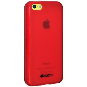 AMZER Pudding TPU Case - Red for iPhone 5C