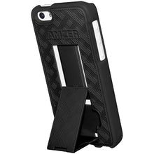 Load image into Gallery viewer, AMZER Snap On Case with Kickstand - Black for iPhone 5C