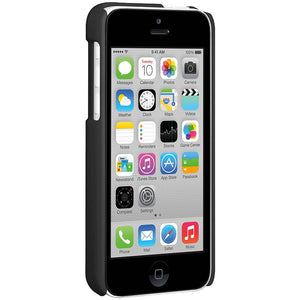 AMZER Snap On Case with Kickstand - Black for iPhone 5C