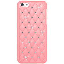 Load image into Gallery viewer, AMZER Diamond Lattice Snap On Shell Case - Light Pink for iPhone 5C